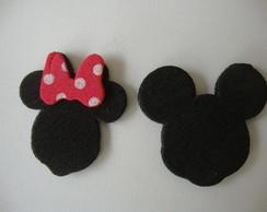 Apliques Mickey e Minnie