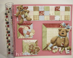 �lbum de fotos em scrap - red patch