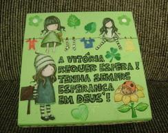 Caixa com mensagem ( verde ) - Esperan�a