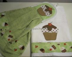 Kit Cozinha Cupcake Verde