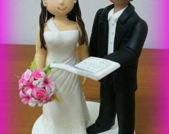 Topo de bolo - Casamento da Fabiana