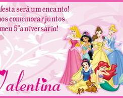 Convite Princesas modelo2