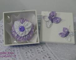 Conjunto Caixa e sach� borboleta