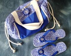 Bolsa Toalha e chinelos (praia/ piscina)