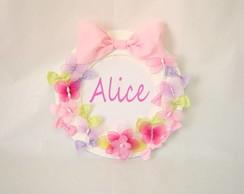 Enfeite de porta de maternidade Alice