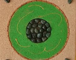 Mandala conc.celular: quartzo verde