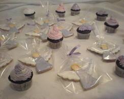 Kit de cupcakes + biscoitos coordenados