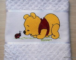 Toalha Boca/Escolar Pooh