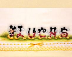 Kit de Fraldas Mickey com Nome - Lucas