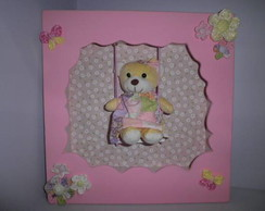 quadro maternidade menina e beb� decorat
