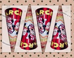 Cones Personalizados Mickey e Minnie.