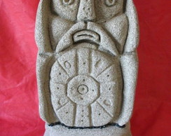 Escultura em concreto celular:Viking