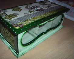 Caixa de ch� Verde com vidro