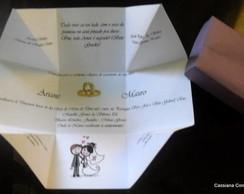 Convite Caixa de Casamento Ariane