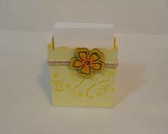 Porta Rascunho - tema floral amarelo