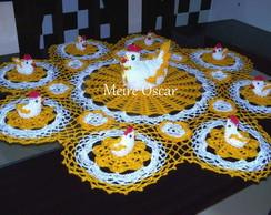 Toalha de mesa com croch�