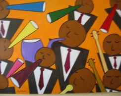 Pintura sobre tela: M�sicos