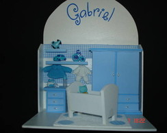 Guirlanda Cen�rio Quarto de Beb� Azul I