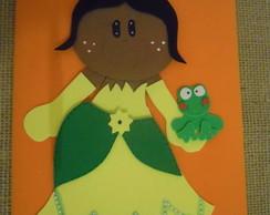 Capa de Caderno A princesa e o Sapo