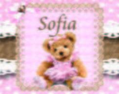 R�tulo  refrigerante ursa marrom e rosa