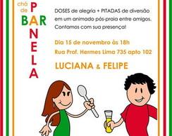 Convite CH� DE PANELA