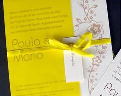 Convite Flores Amarelo