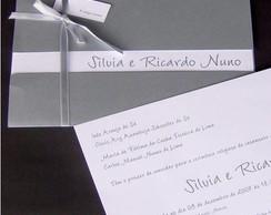 Convite Cl�ssico Prata - retangular