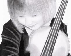 Pequena com Violino
