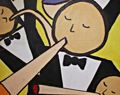 Pintura sobre tela:M�sicos2