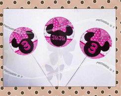 Totens para doce - Minnie Rosa