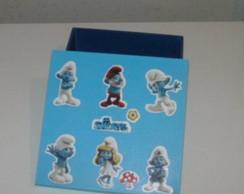 Caixa Azul Os Smurfs
