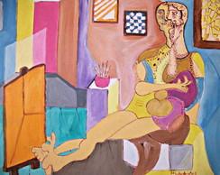 Pintura s/tela: O pintor