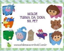 MOLDE/RISCO TURMA DA DORA NA PET
