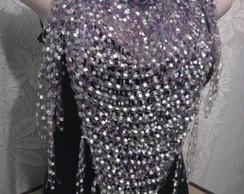 Len�o/ Xale de ver�o Mosaico lil�s