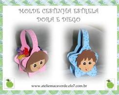 MOLDE/RISCO CESTINHA ESTRELA DORA DIEGO