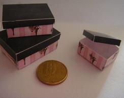 Trio de mini caixas