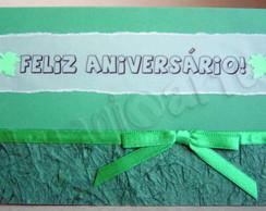 Cart�o Feliz Anivers�rio Verde