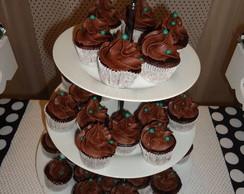 Cupcakes com buttercream de Cacau
