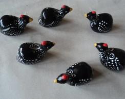 mini galinhas da angola