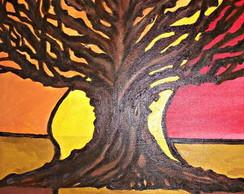Pintura s/tela: �rvore da vida