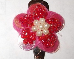 Tic Tac com mini flor de tecido