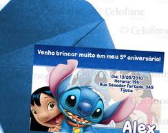 Convite Lilo Stitch