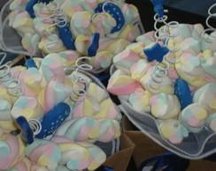 Buqu� de marshmallows marinho