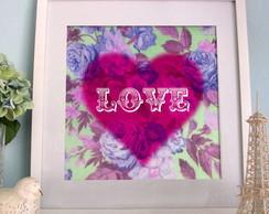 Poster Heart+Flower Personaliz�vel