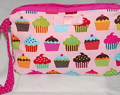Carteira cupcakes rosa