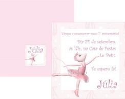 Convite Angelina Ballerina 4