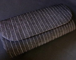 CLUTCH �NDIGO BLACK AND STRIPES