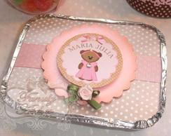 Marmitinha Ursa rosa e marrom