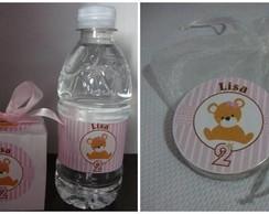 Agua, caixa e latinha personalizada