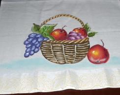 Pano de Prato cesta com frutas